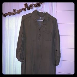 Army green tunic made by Abound